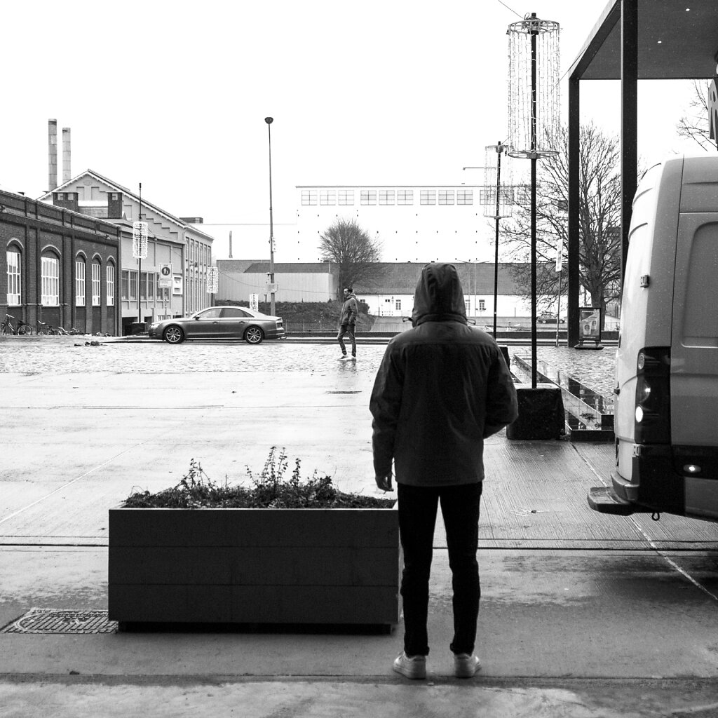 Zigarette im Regen