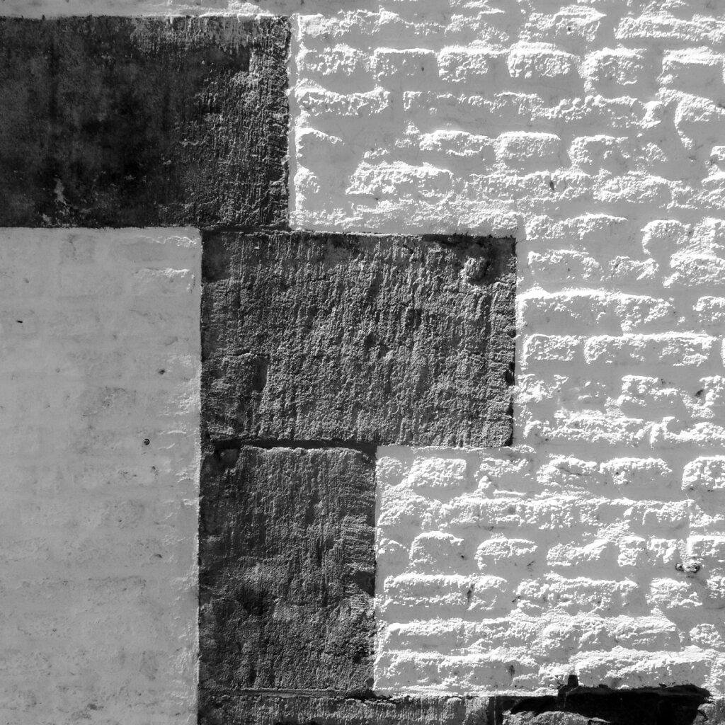Wand, gekalkt